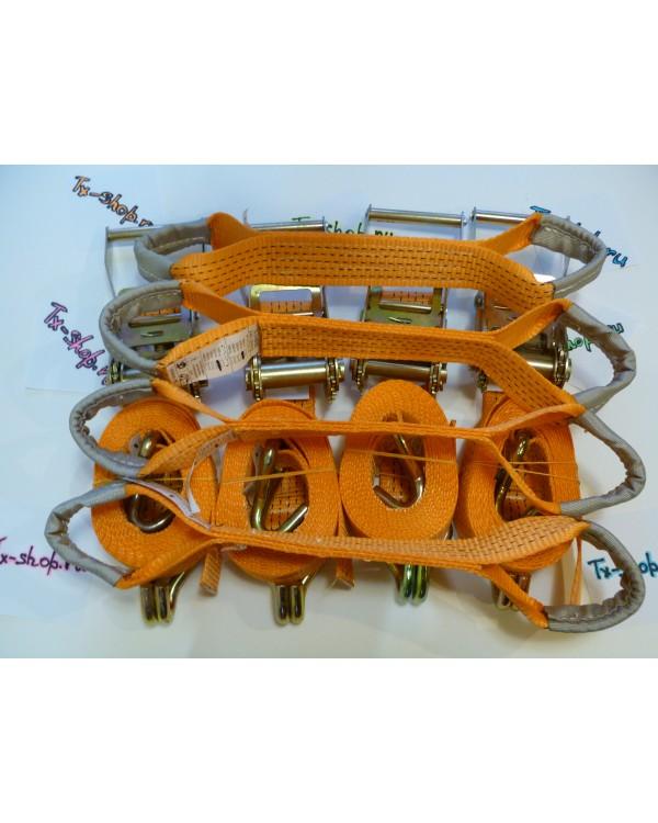 Комплект оборудования для эвакуатора#4. (Тележки, ремни, чалки, блок полиспаст).
