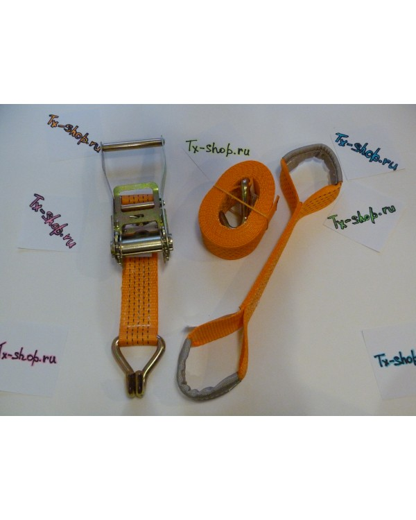 Комплект ремней с перемычкой (косточка) для эвакуатора (4шт).