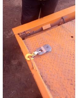 Блок полиспаст со съемным крюком.
