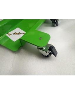 Тележка-подкат для мотоцикла с фиксатором колес.